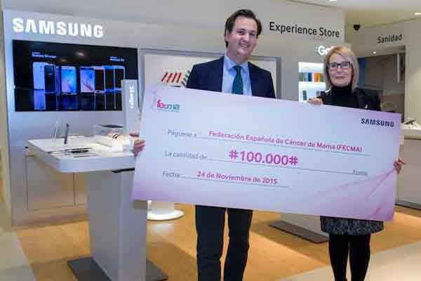 samsung hace entrega a fecma de un cheque simboacutelico de 100000 eurosnbsp