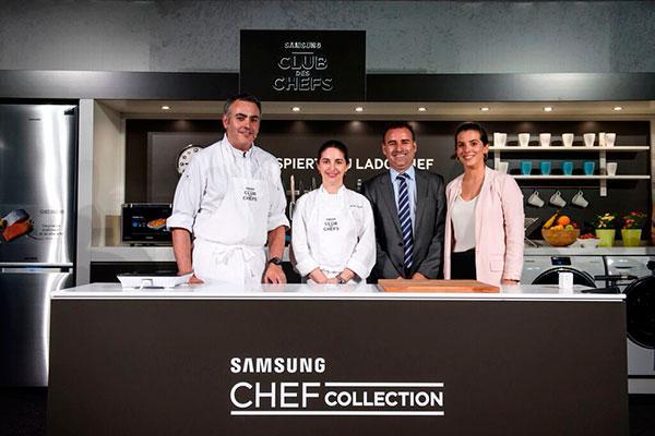 samsung presenta junto a elena arzak sus nuevos frigorificos samsung chef collection