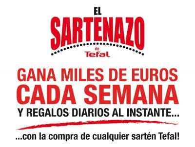 el sartenazo de tefal premia la confianza de los consumidores con miles de euros y regalos diarios