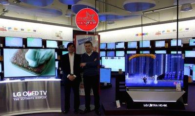 star center y lg presentan los televisores oled curvo y 4k ultra  hd por primera vez en galicia