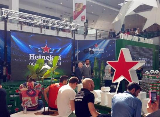 hmy yudigar encargado del espacio heineken champion the match