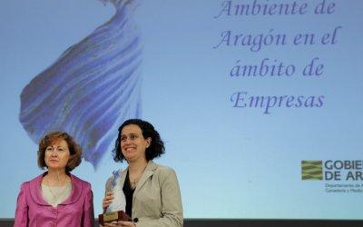 hmy yudigar recibe el premio medio ambiente de aragn en el mbito de empresas